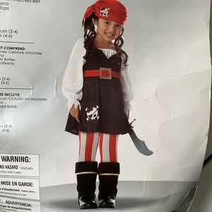 NEW PRECIOUS LIL' PIRATE COSTUME